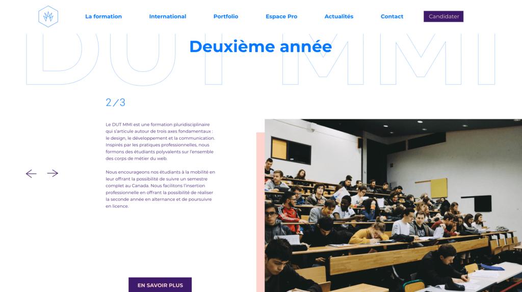 DUT section - MMI Montbéliard